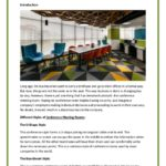 Conference Meeting Rooms – 4 Different Styles of Meeting Room