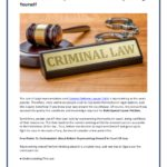 Criminal Defense Lawyer What To Know About Representing Yourself
