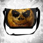 Halloween Scary Face Moon Men's Cross Body Bags